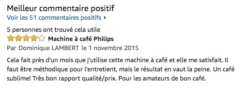 Meilleure commentaire Amazon Philips HD8650/01