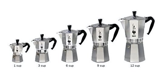 Bialetti Moka Express Differentes tailles